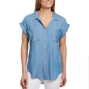 Jachs Girlfriend Quinn Cap Sleeve Button Down